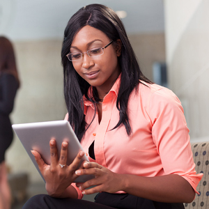 Woman Using a Tablet Computer